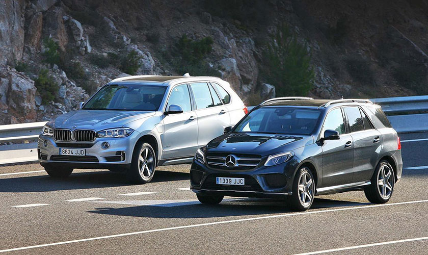 Mercedes GLE 350d vs BMW X5 40e, ¿diésel o híbrido?